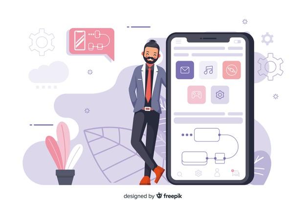 mobile apps concept illustration